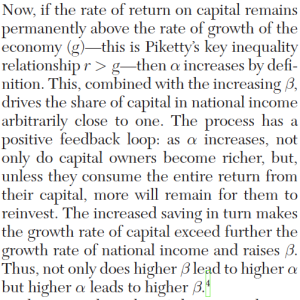 Excerpt from Milanovic Review of Piketty Capital in the 21st Century