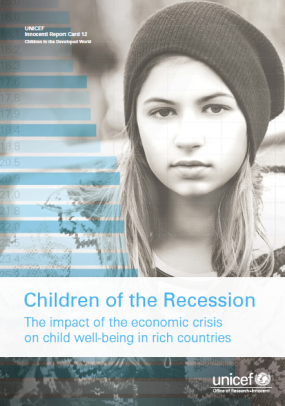 UNICEF Children of the Recession Innocenti Report Card 12 Cover
