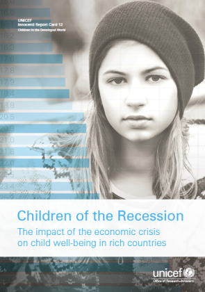 UNICEF Children of the Recession Innocenti Report Card 12 Cover