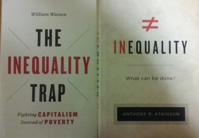 Dust Jackets of Two Books on Inequality Atkinson and Watson