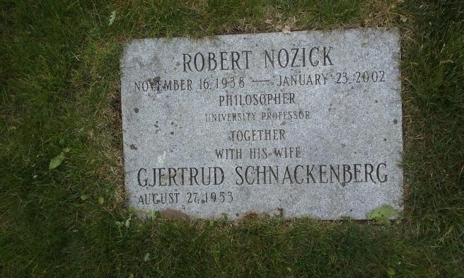 Robert Nozick in Mount Auburn Cemetery Cambridge Massachusetts
