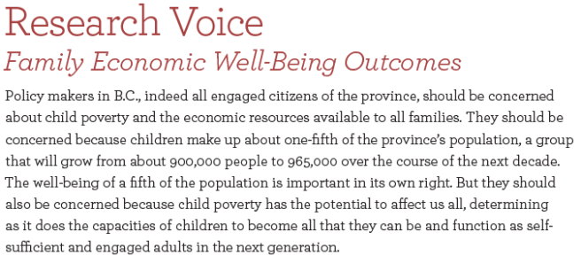 Corak Research Voice Growing Up in BC 2015